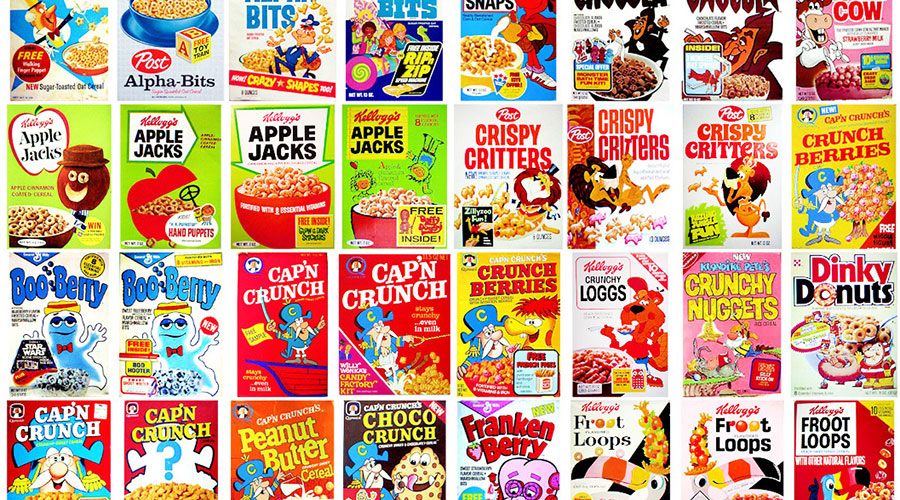 Design Evolution: Vintage Cereal Boxes