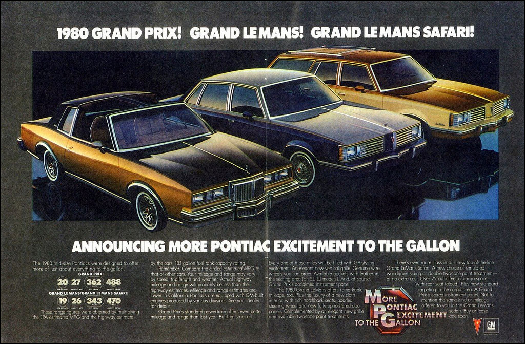 1980 Pontiac Grand Prix, Grand LeMans, Grand LeMans Safari ad
