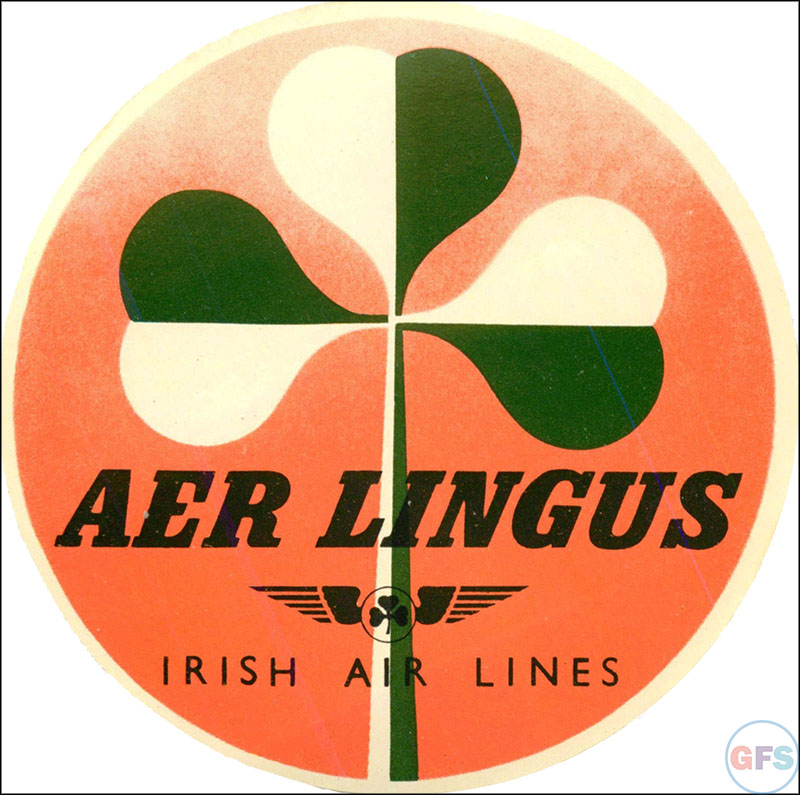 1950s Aer Lingus luggage label