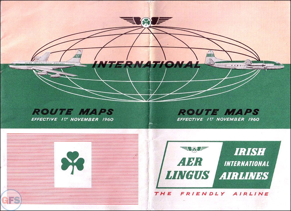 1960 Aer Lingus route map