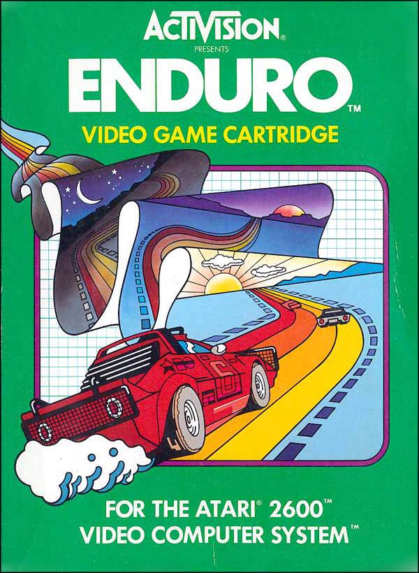 Activision Atari 2600 video game box cover - Enduro
