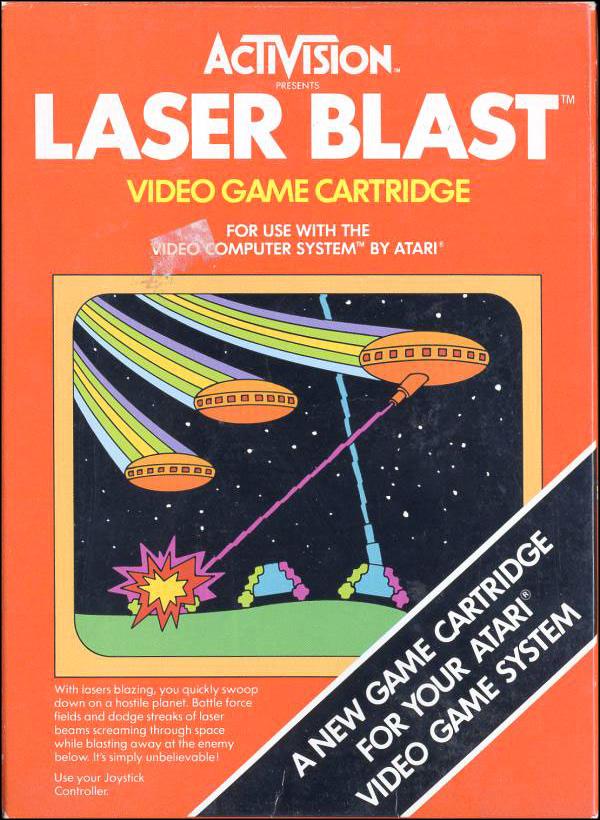 Activision Atari 2600 video game box cover - Laser Blast