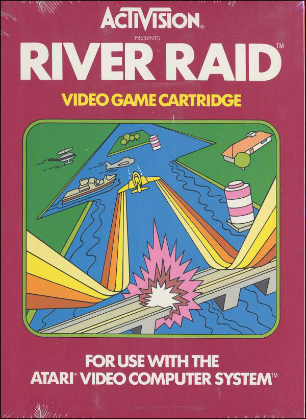 Activision Atari 2600 video game box cover - River Raid