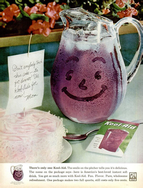 Vintage Kool-Aid print ad, 1950s/1960s