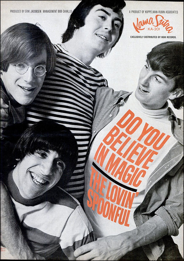 "vintage 1965 Billboard ad - The Lovin' Spoonful - ""Do You Believe in Magic?"""