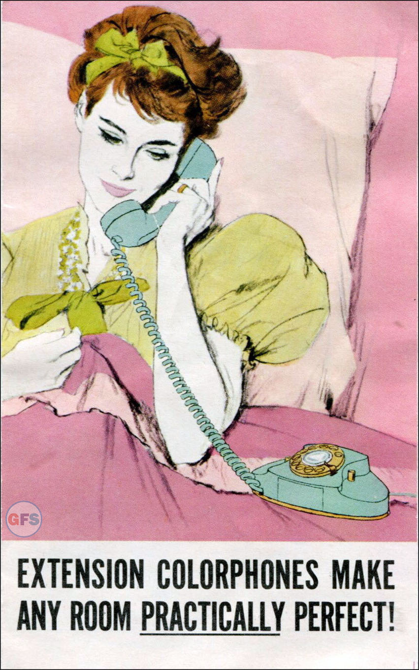 Pacific Telephone Colorphones brochure, 1960s