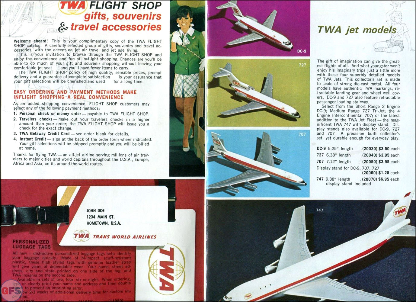 1970 TWA Flight Shop Catalog