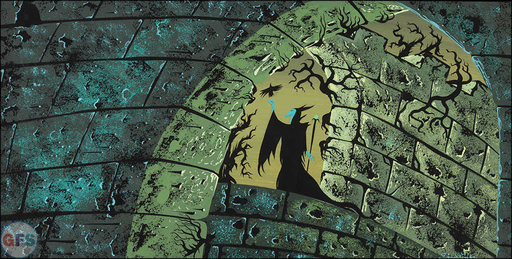 Eyvind Earle Sleeping Beauty Maleficent Concept Painting Walt Disney, 1959
