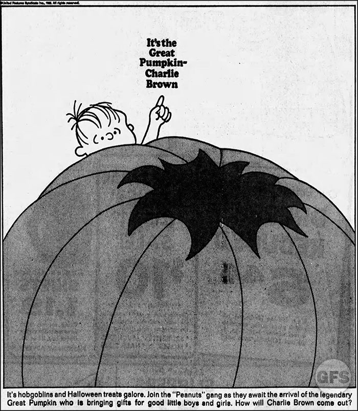 It's the Great Pumpkin, Charlie Brown advertisement, 1966 (CBS)