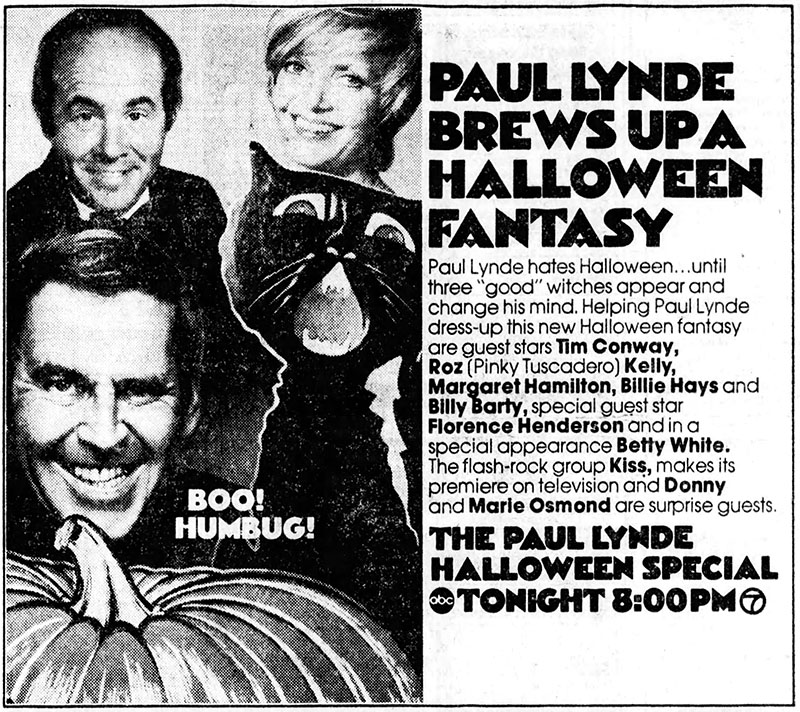 Ad for The Paul Lynde Halloween Special, 1976