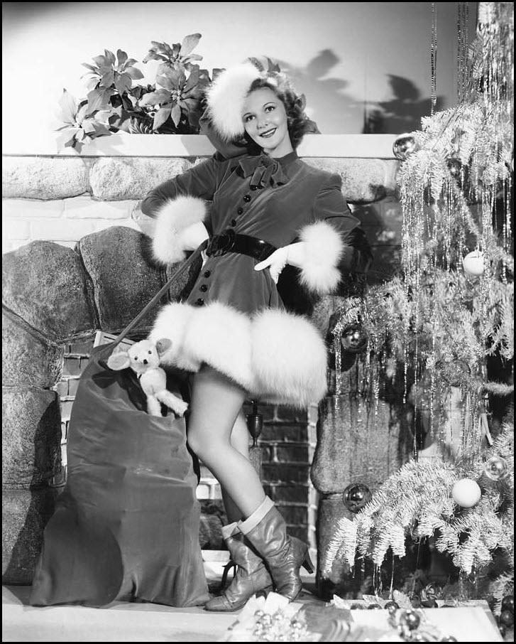 Vintage Christmas pinup - Mary Martin