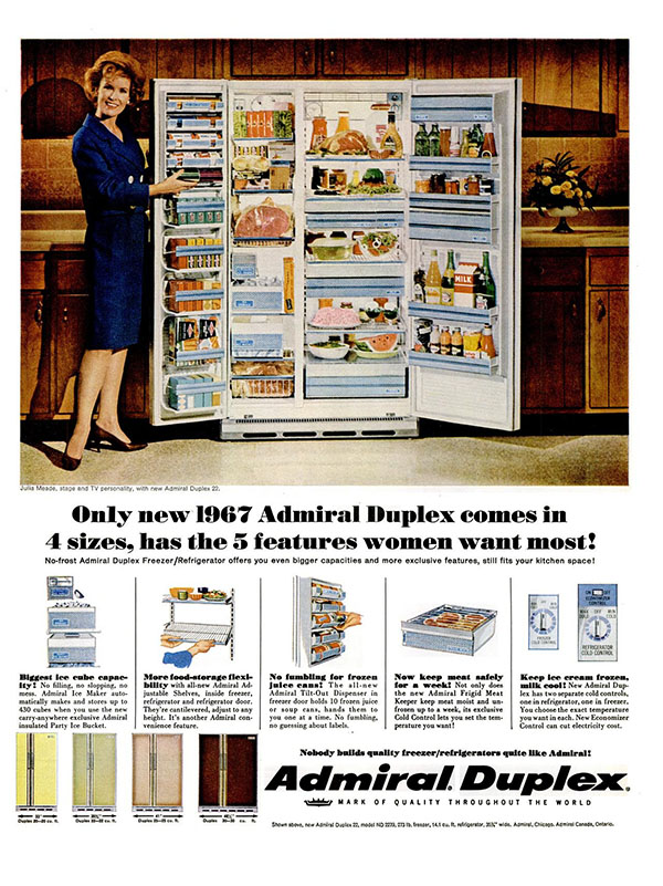 1967 Admiral Duplex ad