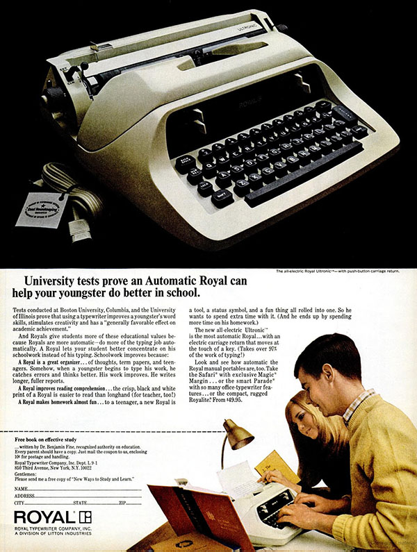 1967 Automatic Royal ad