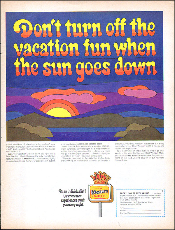 1967 Best Western ad