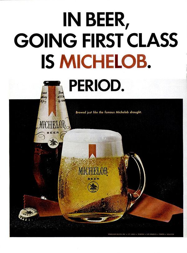 1967 Michelob ad