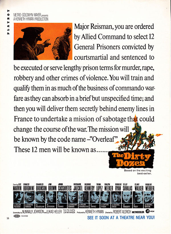 The Dirty Dozen ad