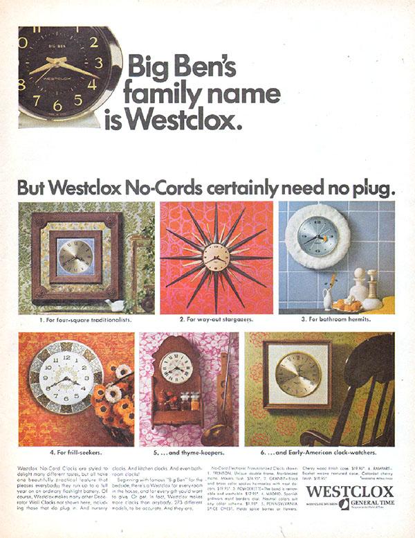 1967 Westclox ad
