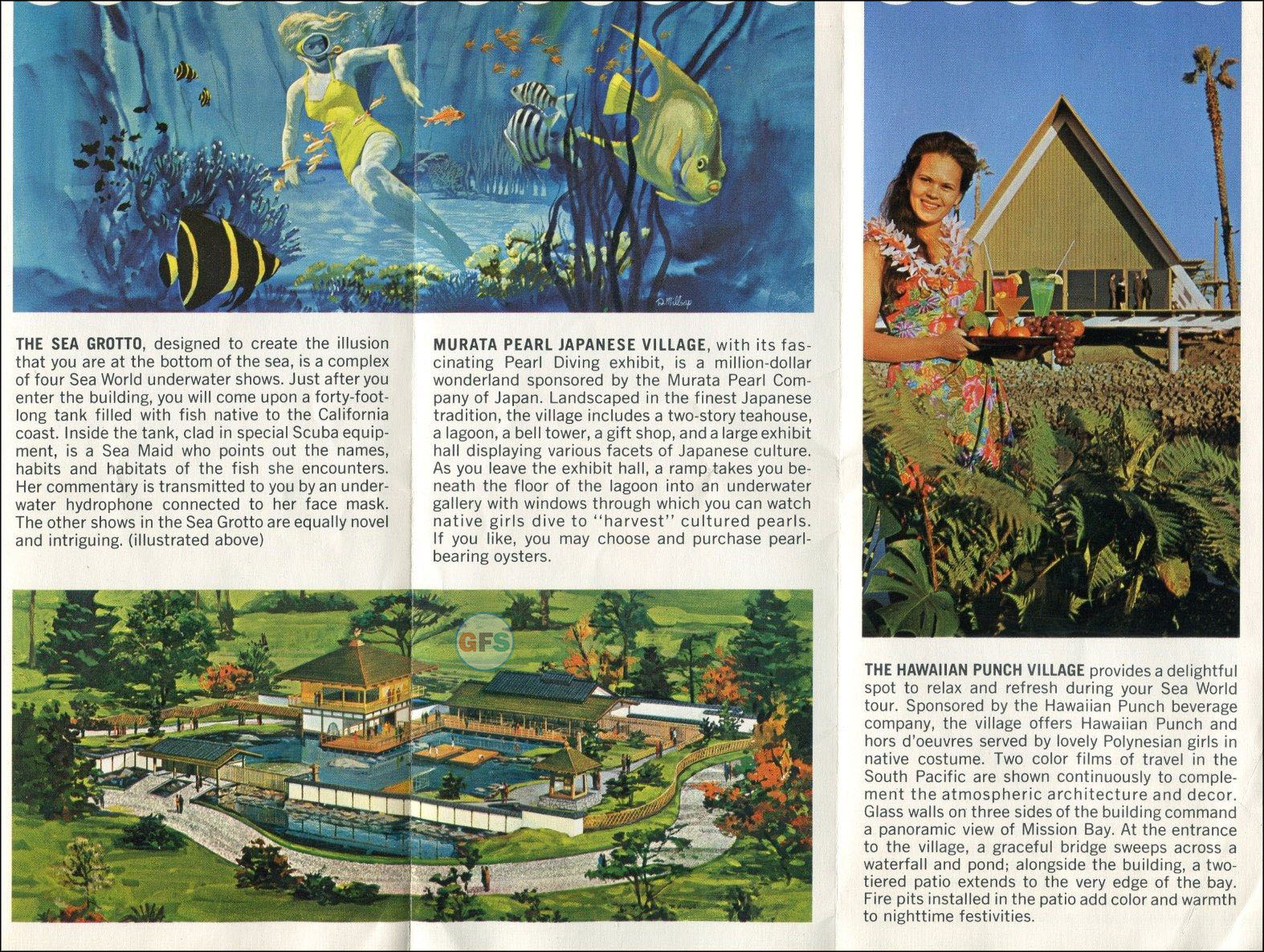 Sea World San Diego brochure, 1964