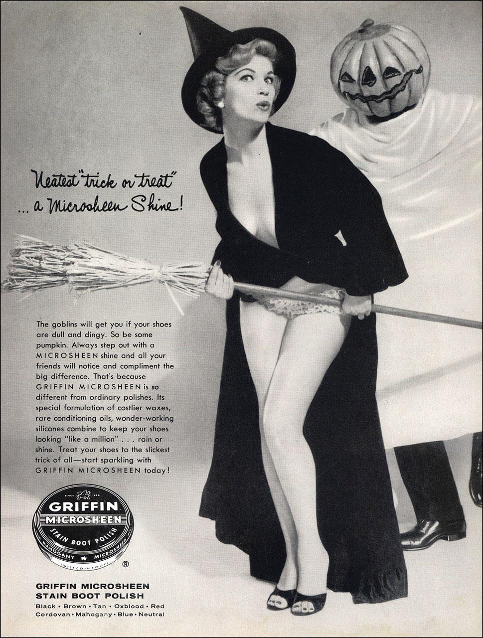 Vintage Halloween ad (Griifin Microsheen, 1956)