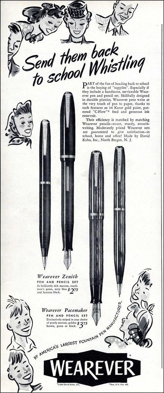 Vintage back to school ad