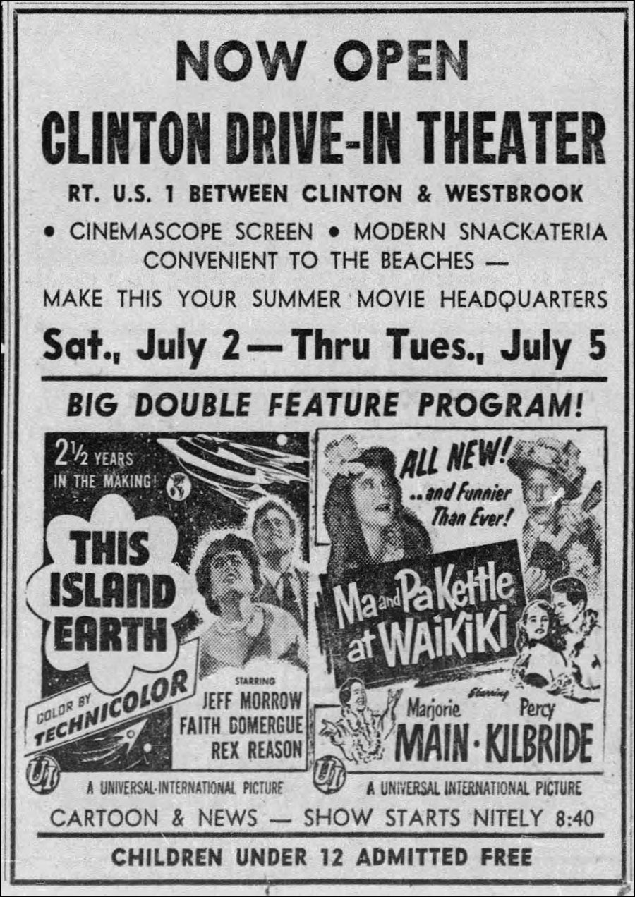 Vintage 1950s newspaper movie ad: