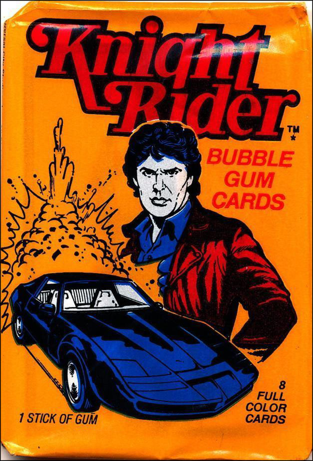 Vintage TV Show Trading Card Packs of the '70s, '80s, and '90s: Knight Rider