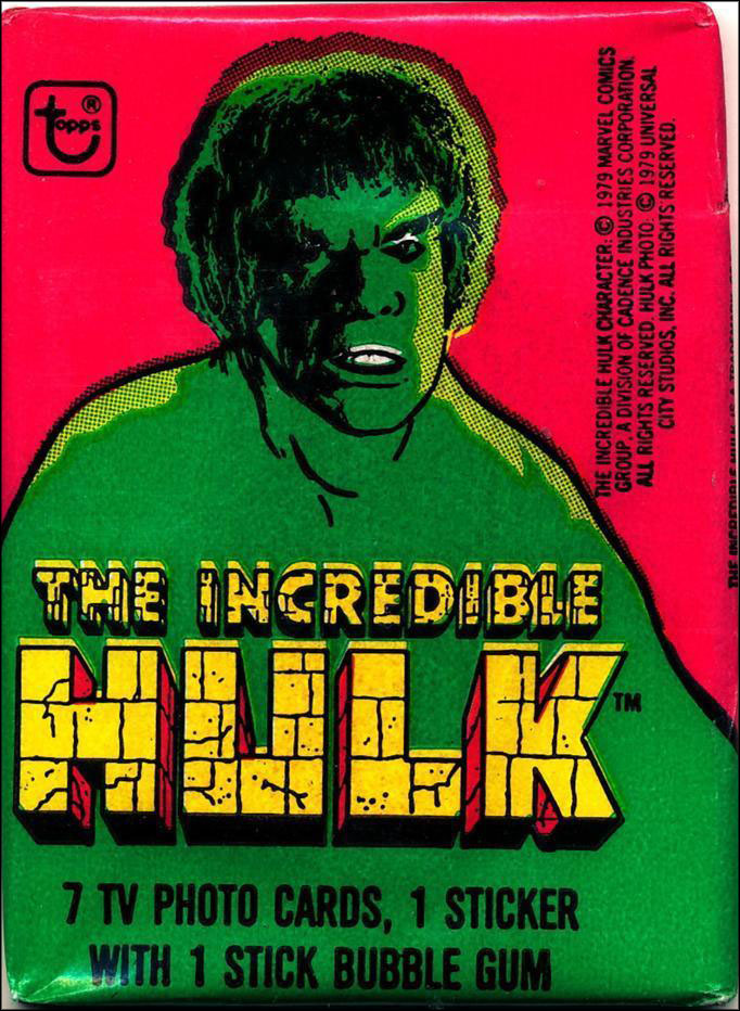 Vintage TV Show Trading Card Packs of the '70s, '80s, and '90s: The Incredible Hulk