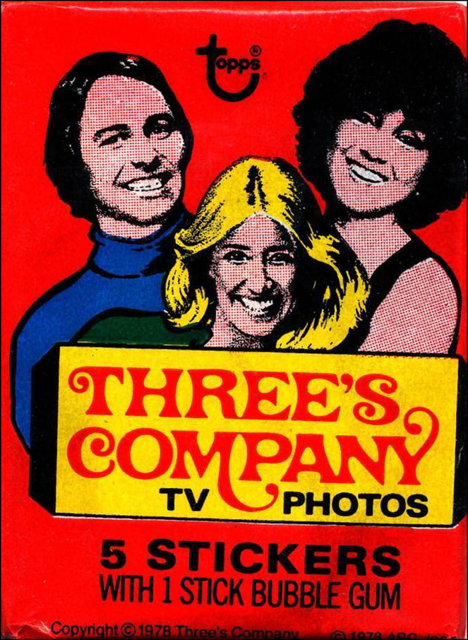 Vintage TV Show Trading Card Packs of the '70s, '80s, and '90s: Three's Company
