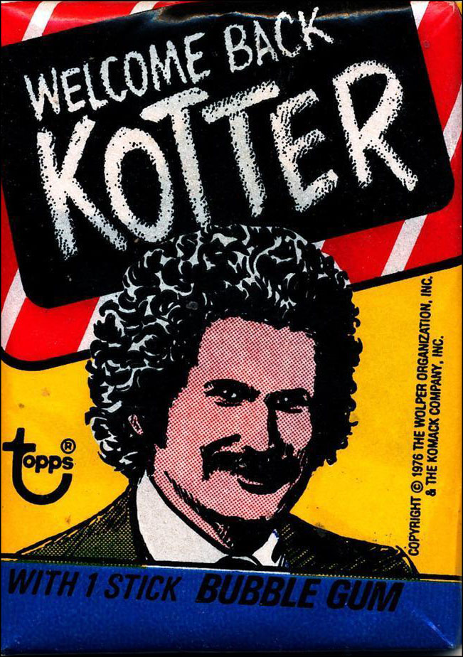 Vintage TV Show Trading Card Packs of the '70s, '80s, and '90s: Welcome Back, Kotter