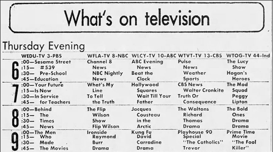 TV Listings Flashback: November 29, 1973