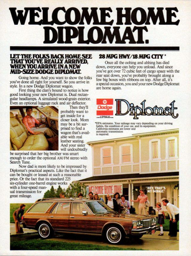 1979 Dodge Diplomat ad
