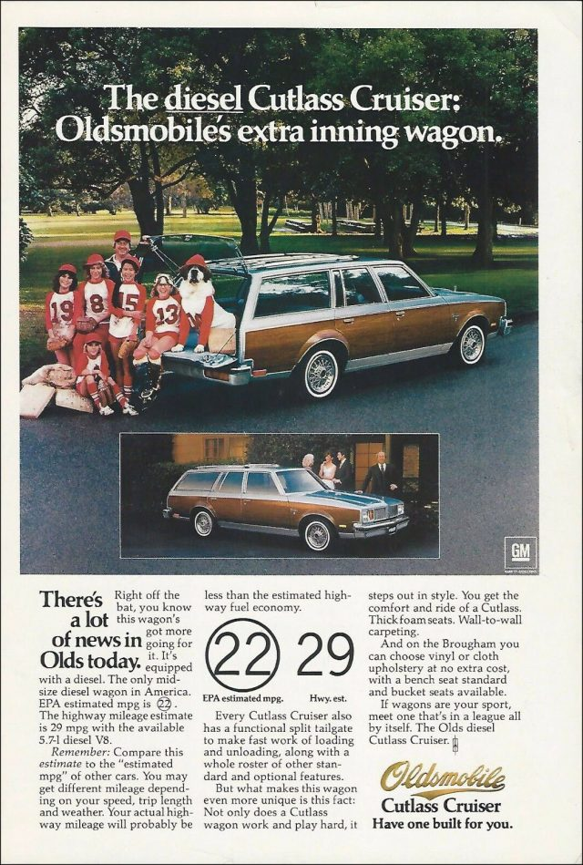 1979 Oldsmobile Cutlass Cruiser ad