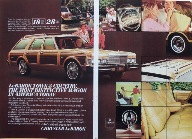 1979 Chrysler LeBaron Town & Country wagon ad