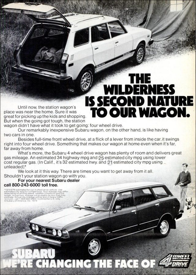1979 Subaru station wagon ad