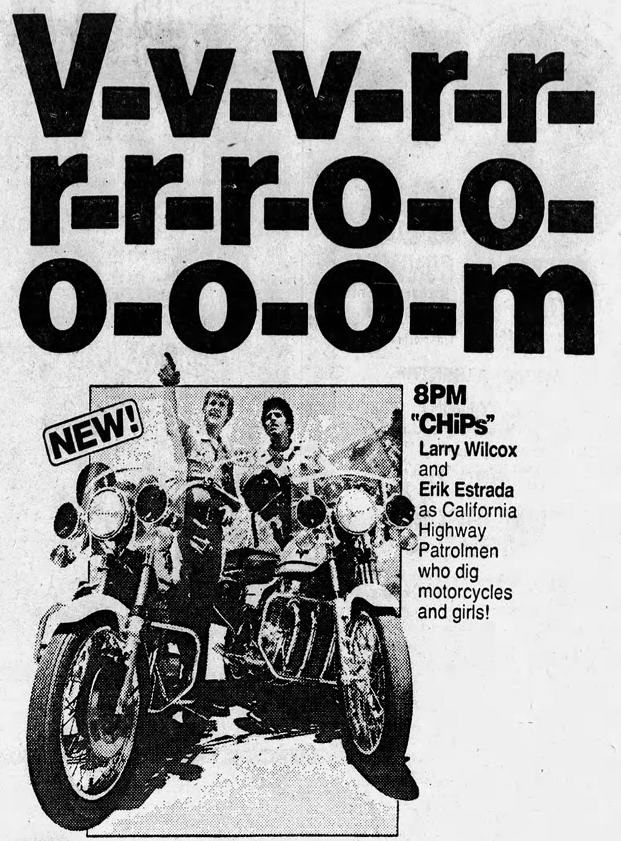 1977 CHiPs newspaper ad