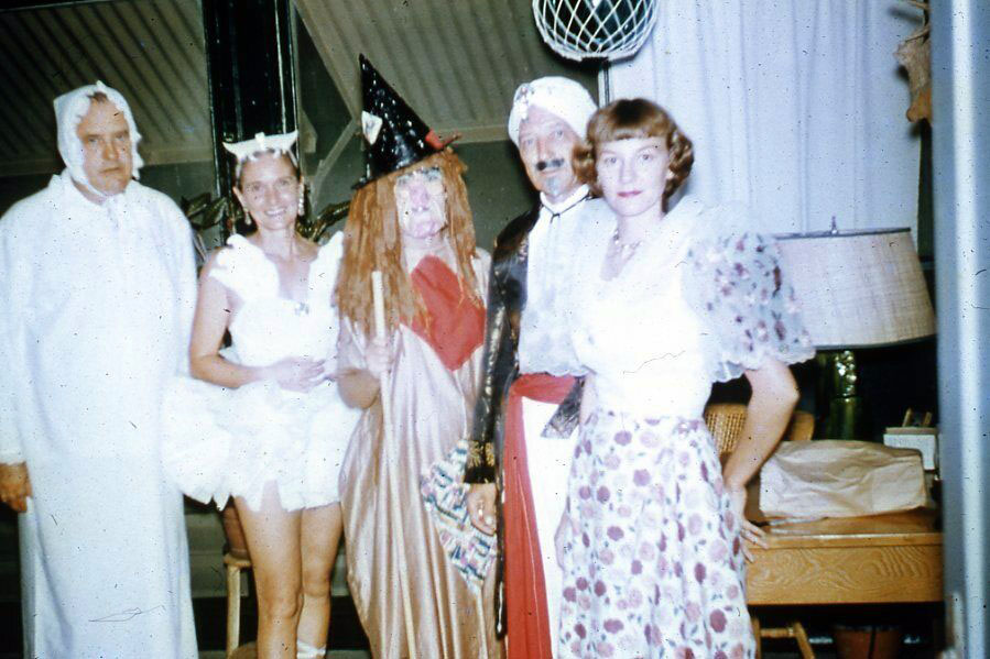 Halloween Kodachrome slide from the 1950s