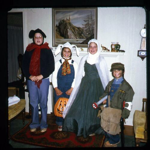 Halloween Kodachrome slide from the 1970s