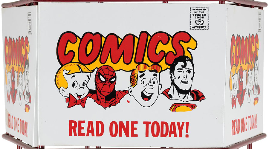 comic book rack banner image
